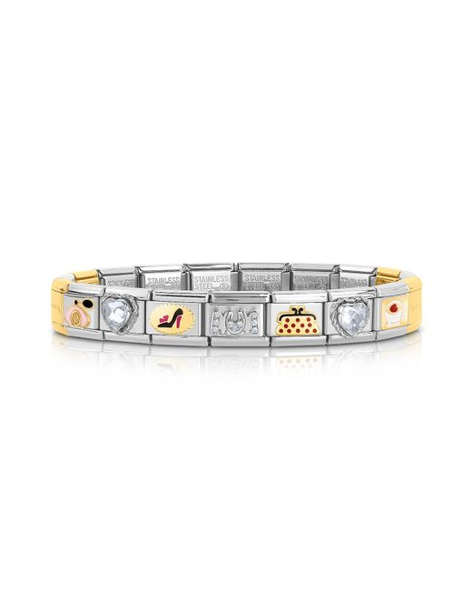 Nomination - Metallic Classic Très Chic Golden Stainless Steel Bracelet W/crystals - Lyst