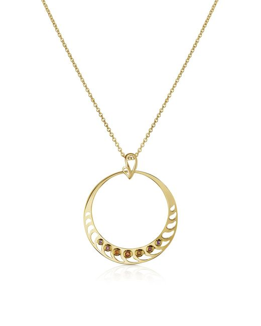 Sho London | Metallic Silver Vermeil Pendant Necklace | Lyst