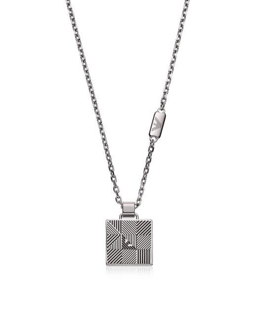 Emporio Armani - Metallic Egs2507040 Signature Men's Necklace for Men - Lyst