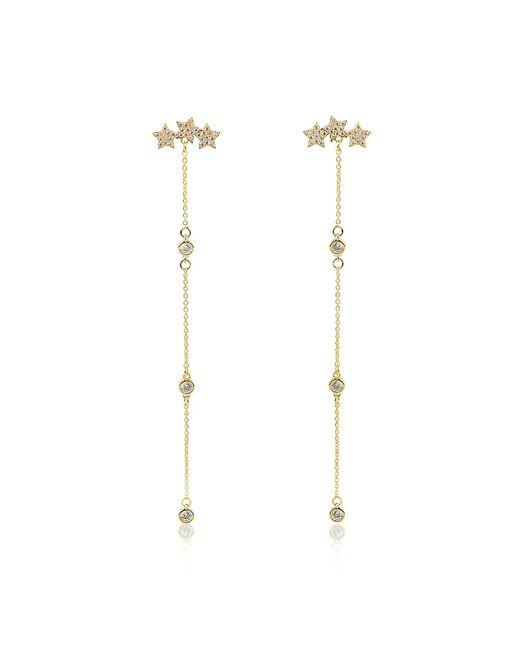 FEDERICA TOSI - Metallic Mini Stars Long Earrings - Lyst