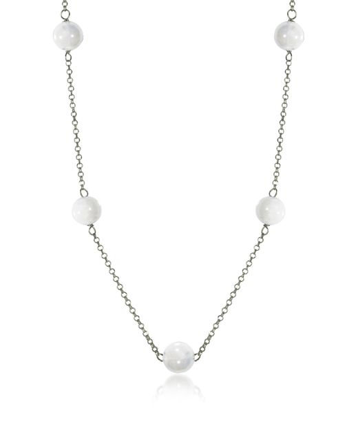 Antica Murrina - Perleadi White Murano Glass Beads Necklace - Lyst