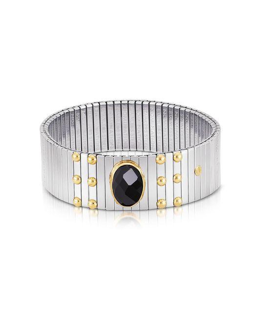 Nomination - Metallic Single Black Cubic Zirconia Stainless Steel W/golden Studs Women's Bracelet - Lyst