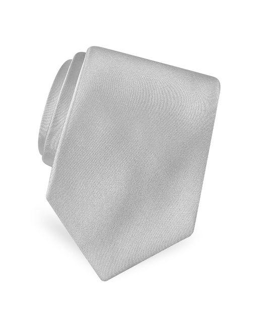 FORZIERI | Metallic Solid Pure Silk Satin Silk Tie for Men | Lyst