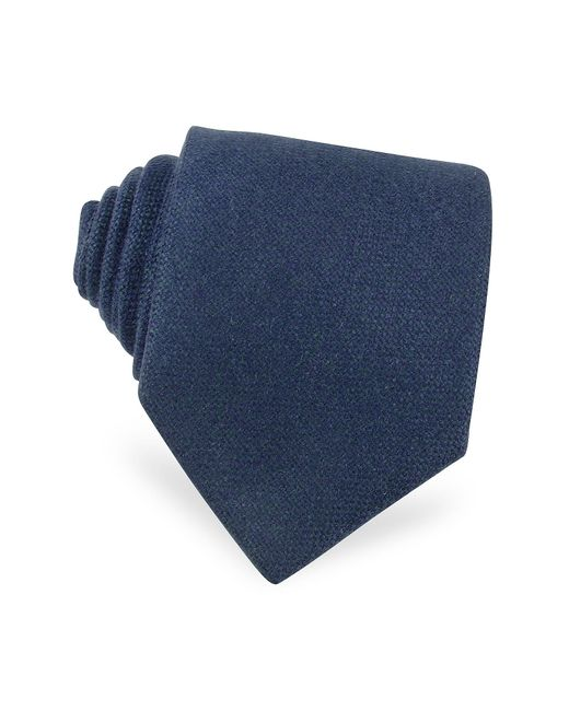 FORZIERI | Solid Blue Cashmere Extra-long Tie for Men | Lyst