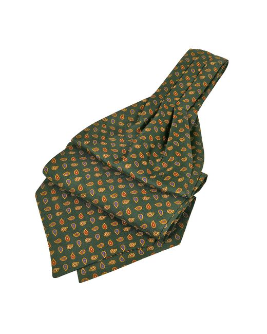 FORZIERI | Green Mini Paisley Print Silk Ascot for Men | Lyst