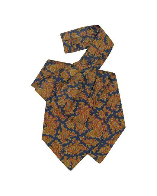 Forzieri | Blue Large Paisley Print Silk Ascot for Men | Lyst