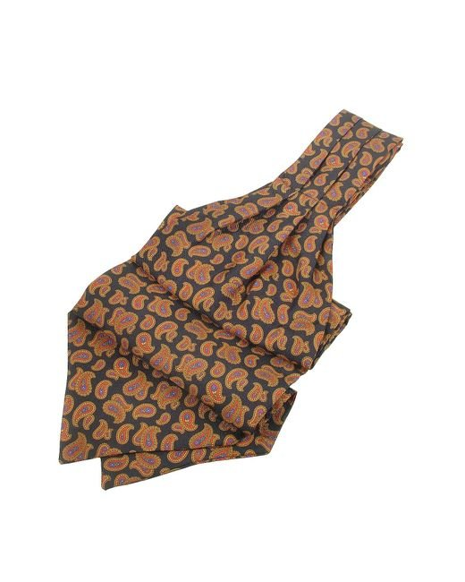 FORZIERI | Black Large Paisley Print Twill Silk Ascot for Men | Lyst
