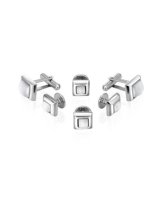FORZIERI | Metallic Studs - Silver-Plated Cufflink Gift Set for Men | Lyst