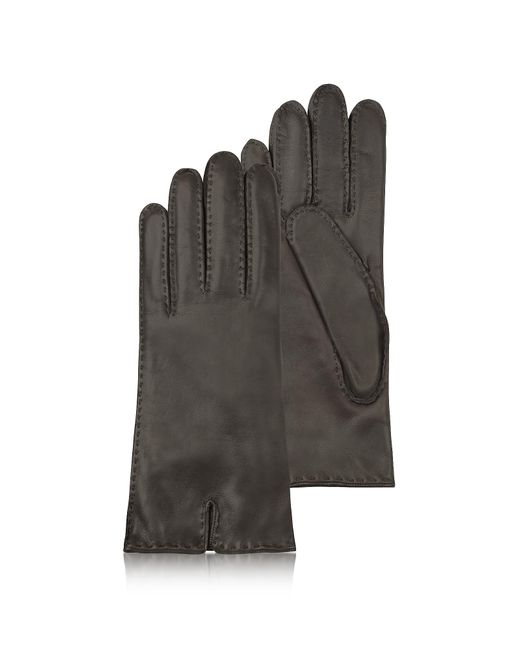 FORZIERI   Women's Cashmere Lined Dark Brown Italian Leather Gloves   Lyst