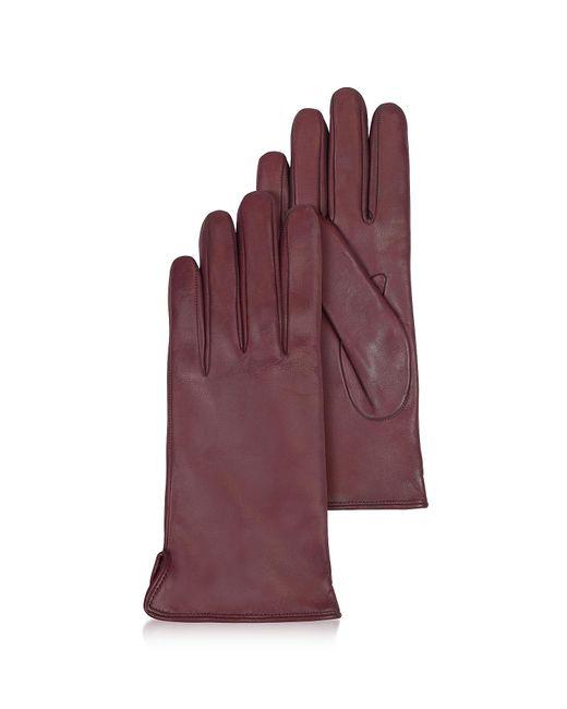 FORZIERI | Purple Women's Burgundy Cashmere Lined Italian Leather Gloves | Lyst