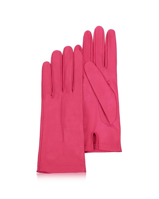 FORZIERI   Women's Hot Pink Unlined Italian Leather Gloves   Lyst