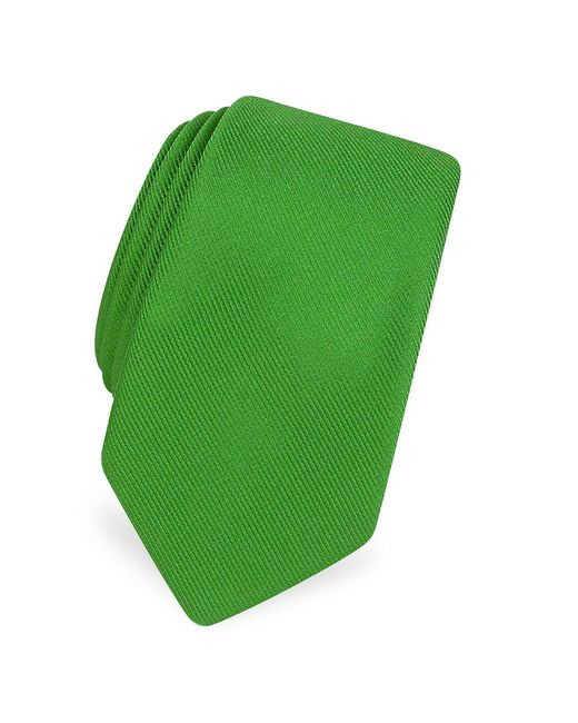 FORZIERI | Green Solid Twill Silk Narrow Tie for Men | Lyst