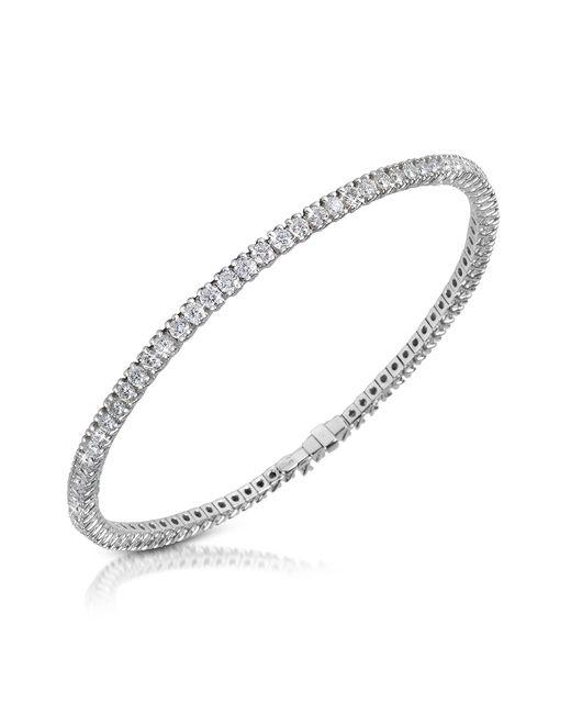 FORZIERI | White Diamond Eternity 18k Gold Tennis Bracelet | Lyst