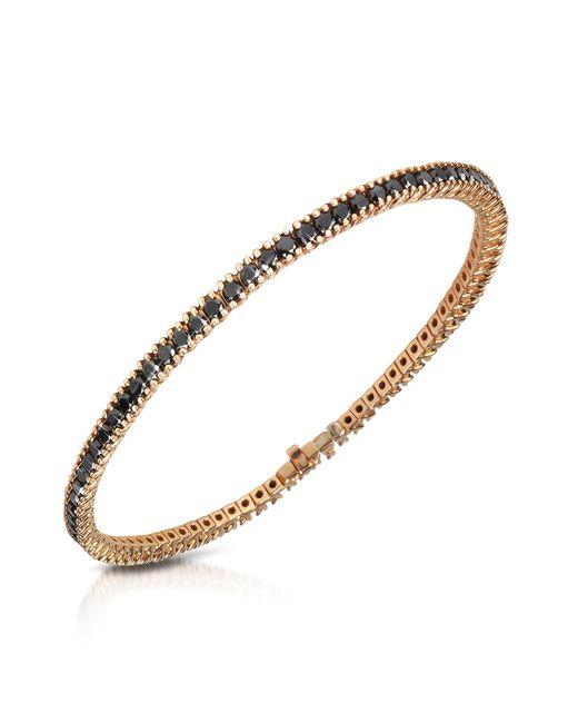 FORZIERI | Black Diamond Eternity 18k Gold Tennis Bracelet | Lyst