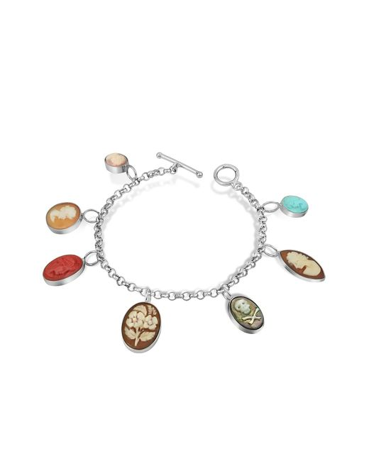Mia & Beverly | Metallic Cameo Charm Bracelet | Lyst