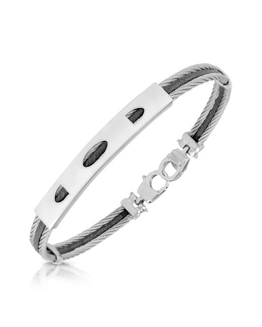FORZIERI | Metallic Stainless Steel Bracelet With Rectangular Plaque for Men | Lyst