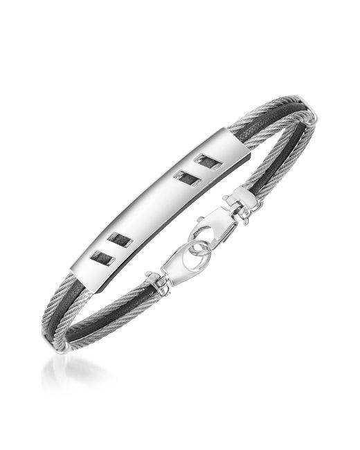 FORZIERI | Metallic Di Fulco Line Stainless Steel Men's Bracelet for Men | Lyst