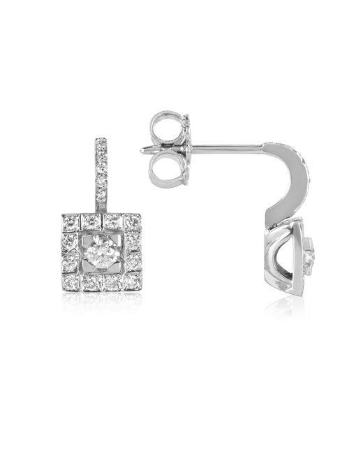 FORZIERI | 0.48 Ctw Diamond 18k White Gold Earrings | Lyst