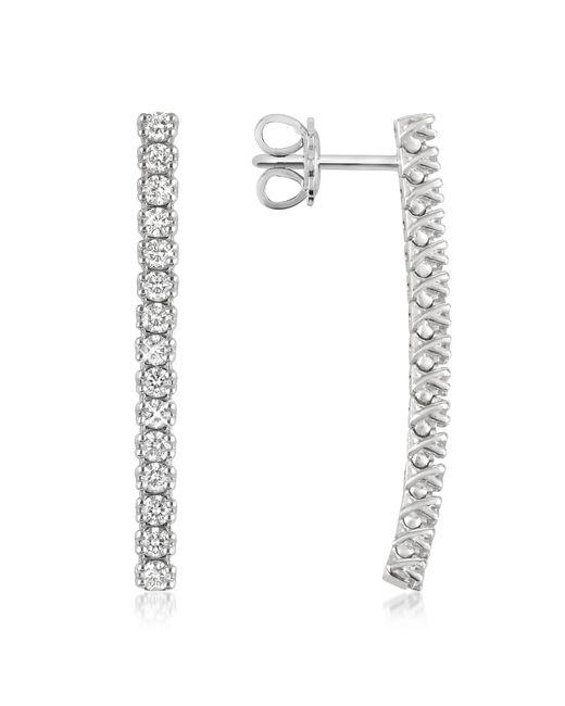 FORZIERI | White 1.03 Ctw Drop Diamond 18k Gold Earrings | Lyst