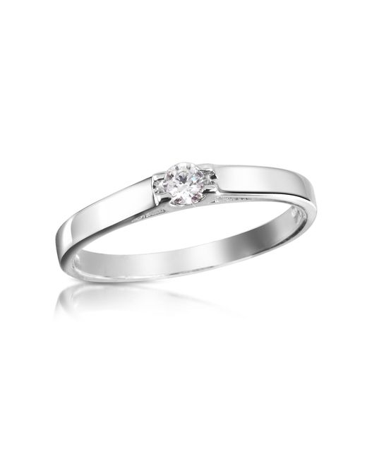 FORZIERI | White 0.10 Ctw Diamond Solitaire Ring | Lyst