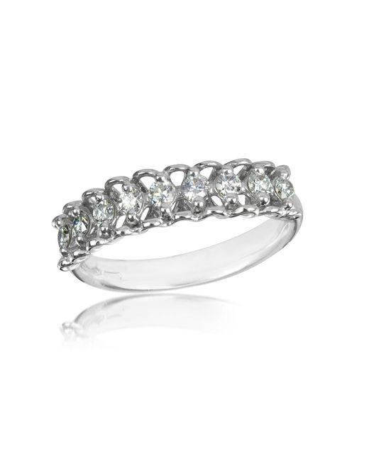 FORZIERI | 0.37 Ctw Nine-stone Diamond 18k White Gold Ring | Lyst
