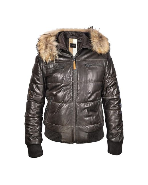 FORZIERI | Brown Fur-trim Bomber Jacket for Men | Lyst
