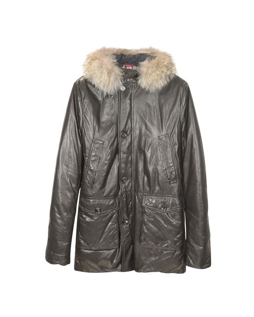 FORZIERI | Black Men's Hooded Leather Car Coat for Men | Lyst