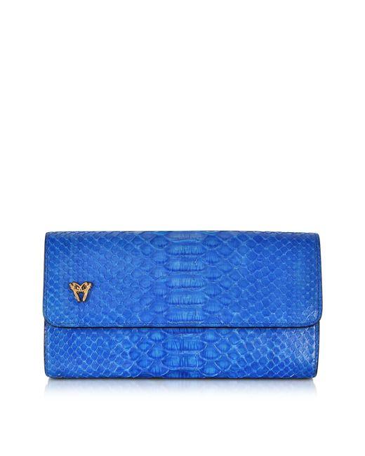 Ghibli | Blue Python Medium Wallet | Lyst