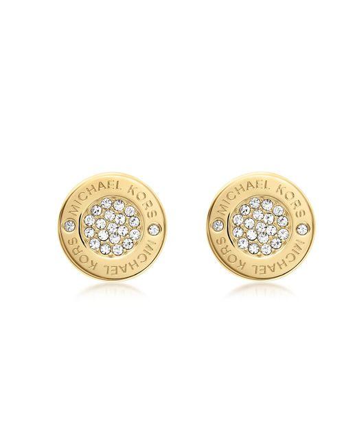 Michael Kors   Metallic Heritage Pave Stud Earrings   Lyst