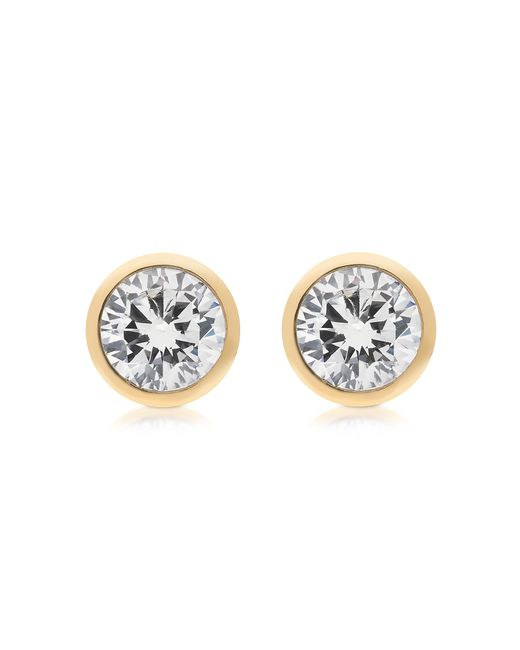 Michael Kors | Metallic Brilliance Metal And Crystal Stud Earrings | Lyst