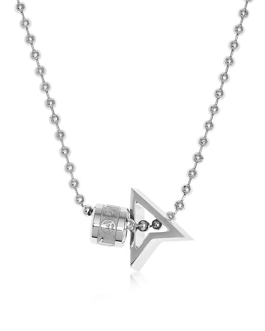 Northskull | Metallic Silver North Pendant W/ Logo Wheel & Ball Necklace for Men | Lyst