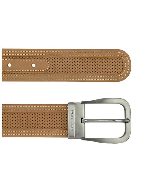 Moreschi | Black Men's Tan Perforated Leather Belt for Men | Lyst