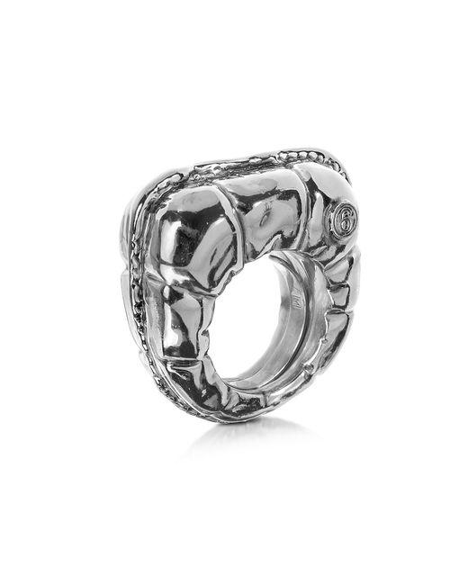 MM6 by Maison Martin Margiela | Metallic Logo Detail Copper Women's Ring | Lyst
