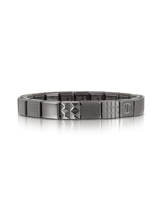 Nomination   Metallic Steel Ikons Geometric Brushed Stainless Steel Bracelet for Men   Lyst