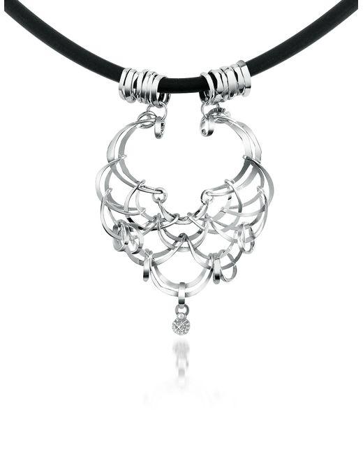 Orlando Orlandini | Scintille - Diamond Drop 18k White Gold Net Necklace | Lyst