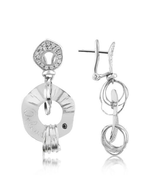 Orlando Orlandini | Fashion - Diamond 18k White Gold Drop Earrings | Lyst