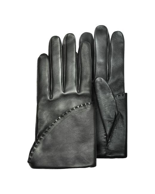 Pineider   Women's Black Short Nappa Gloves W/ Silk Lining   Lyst