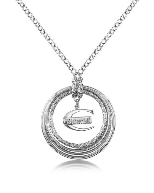 Just Cavalli | Metallic Infinity - Logo Pendant Chain Necklace | Lyst