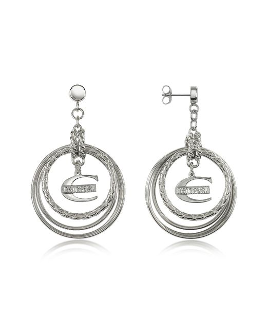 Just Cavalli | Metallic Infinity - Logo Charm Earrings | Lyst