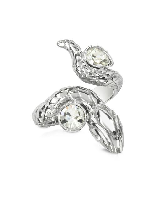 Just Cavalli | Metallic Silver Snake Women's Ring | Lyst