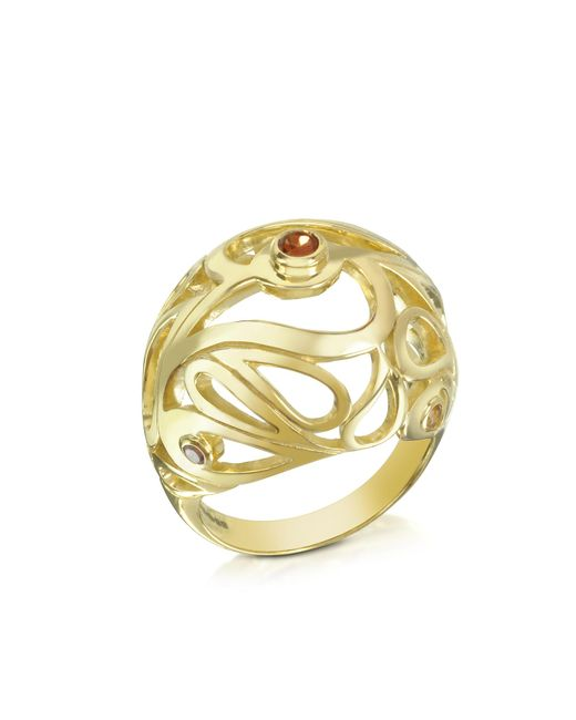 Sho London | Metallic Gold Vermeil Mari Splash Boule Ring | Lyst