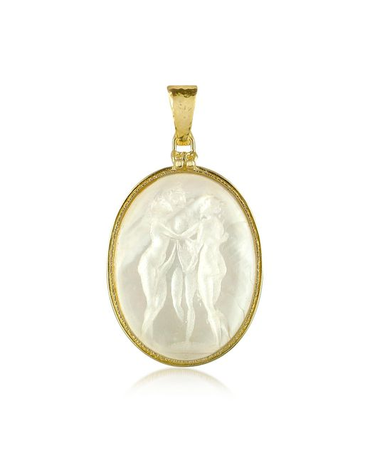 Tagliamonte | White Three Graces - 18k Gold Mother Of Pearl Cameo Pendant | Lyst