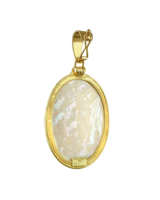 Tagliamonte | Green Three Graces - 18k Gold Mother Of Pearl Cameo Pendant | Lyst
