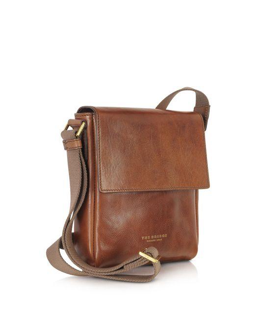 The bridge Sfoderata Marrone Leather Men's Crossbody Bag in Brown ...