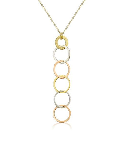 Torrini | White Fiesole - Three-tone 18k Gold Circles Drop Necklace | Lyst