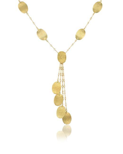 Torrini | Metallic Lenticchie Moving - 18k Yellow Gold Drop Necklace | Lyst
