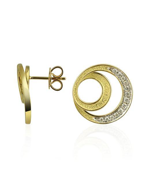 Torrini | Metallic Infinity 18k Yellow Gold Diamond Earrings | Lyst