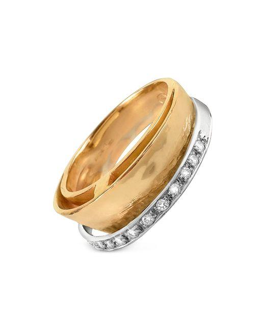 Torrini | Tama - Diamond Channel 18k Yellow Gold Band Ring | Lyst