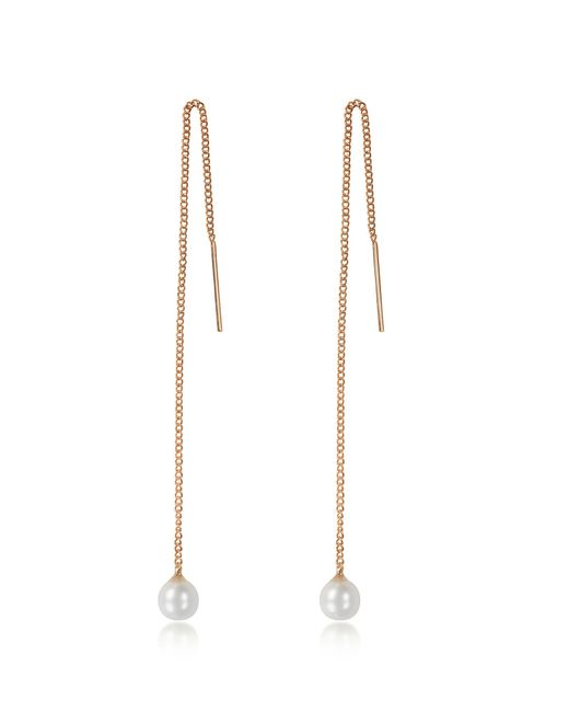 Vita Fede | Metallic Pearl Thread Rose Gold Tone Earrings | Lyst