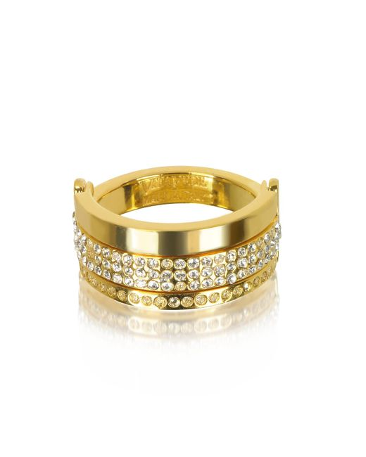 Vita Fede | Metallic Bardot Gold Tone Ring W/crystals | Lyst